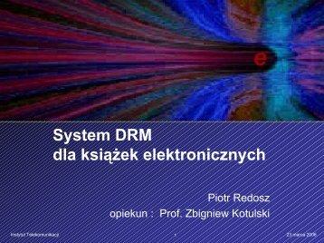 System DRM dla książek elektronicznych. - cygnus
