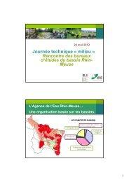 Journée technique « milieu » - Agence de l'Eau Rhin-Meuse
