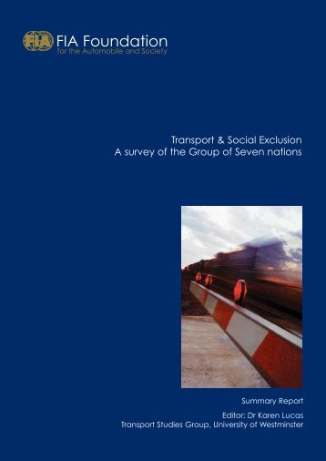Transport & Social Exclusion - FIA Foundation