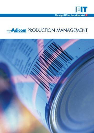 Adicom Production Management