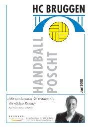 Handball Poscht Ausgabe 06/08 - HC Bruggen