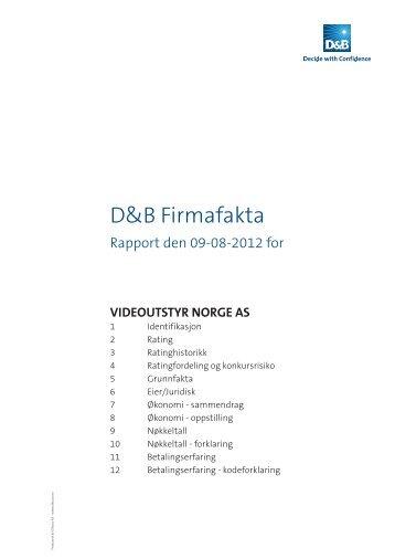 D&B Firmafakta