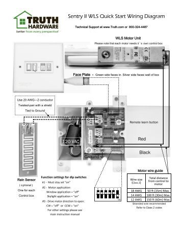 sentry ii remote operating instructions truth hardware sentry ii wls quick start wiring diagram truth hardware