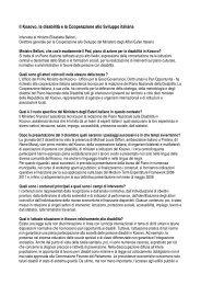 Intervista al Min.Belloni, Direttore Dgcs - Cooperazione Italiana allo ...