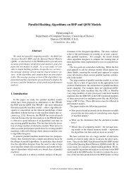 Parallel Hashing Algorithms on BSP and QSM Models - TAMU ...