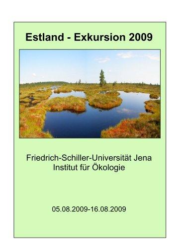 Estland - Exkursion 2009 - Institut für Ökologie - Friedrich-Schiller ...