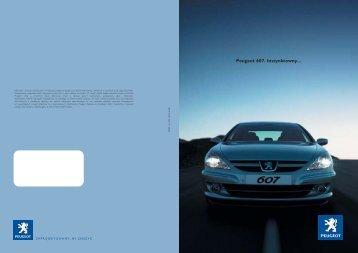 Nouvelle Peugeot 607. Par instinct. Peugeot 607. Instynktowny...