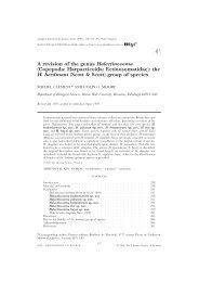 A revision of the genus Halectinosoma (Copepoda ... - Luciopesce.net