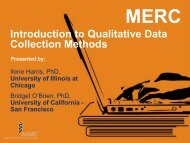 Introduction to Qualitative Data Collection Methods
