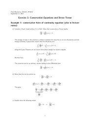 3: Conservation Equations and Stress Tensor - KTH Mechanics