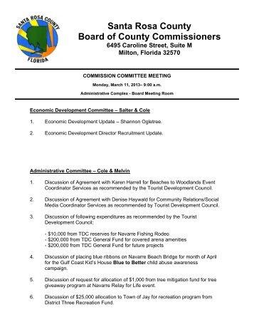 Agenda - Santa Rosa County