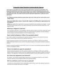 Frequently Asked Questions Undergraduate Degrees - Mount St ...