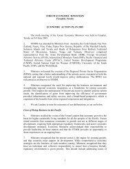 FEMM Action Plan 2005 - Pacific Islands Forum Secretariat