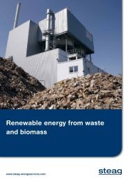 Renewable energy from waste and biomass - STEAG