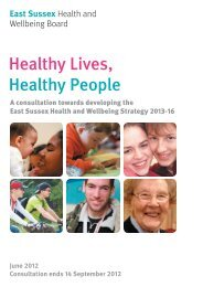 Healthy Lives, Healthy People - East Sussex County Council