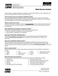 Metal Service Centres Fact Sheet 2432A - wsib