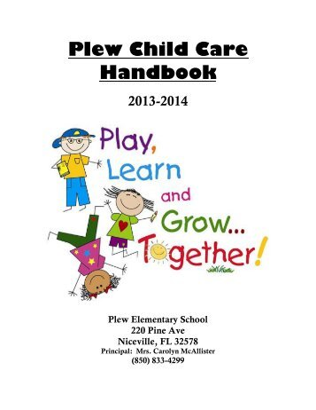 Plew Child Care Handbook - Okaloosa County School District