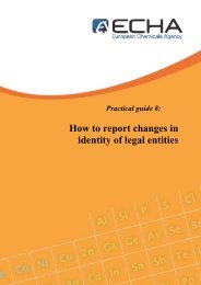 How to report changes in identity of legal entities - ECHA - Europa
