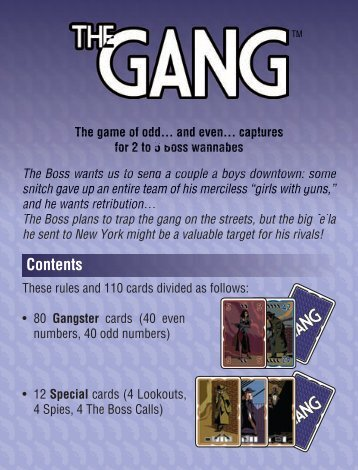 The Gang - rules