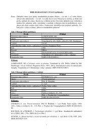 Bibliografické citace (příklady) - VUT UST