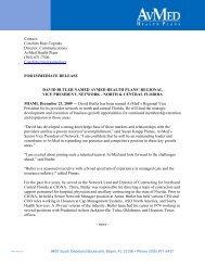 David Butler named AvMed Health Plans regional Vice President ...