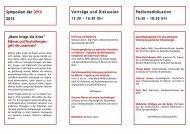 Symposium der DPtV 2013 Vorträge und Diskussion ...