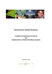 Indonesia: Expression of Interest - Partnership for Market Readiness