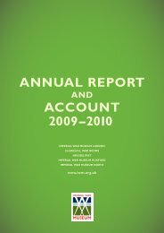 ANNUAL REPORT ACCOUNT 200 –20 0 9 1 - Imperial War Museum