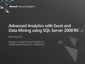 Advanced Analytics with Excel and Data Mining Using SQL Server ...