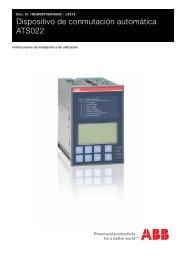 Dispositivo de conmutación automática ATS022 - ABB