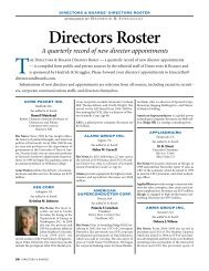 a few sample pages from the current edition. - Directors & Boards