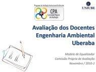 Avaliação dos Docentes Arquitetura e Urbanismo Uberaba - Uniube