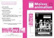 Moissy animation - Ville de Moissy-Cramayel