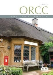 Rural Services Directory - Oxfordshire Rural Community Council