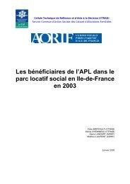 Les bénéficiaires de l'APL dans le parc locatif social en Ile-de ...