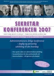 SEKRETÆR KONFERENCEN 2007 - MBCE