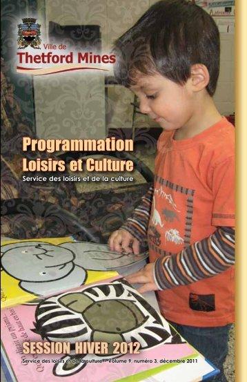 Programmation Loisirs et culture - Ville de Thetford Mines