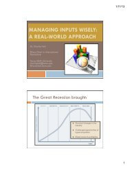 managing inputs wisely - Aggie Horticulture - Texas A&M University