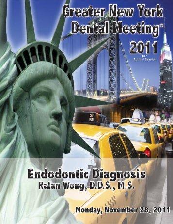 Monday, November 28, 2011 - Greater New York Dental Meeting
