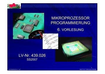Vorlesung 6 (SS07) - Institut für Elektronik, TU-Graz