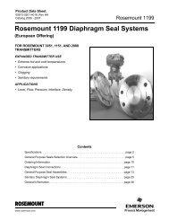 Rosemount 1199 Diaphragm Seal Systems - Emerson Process ...