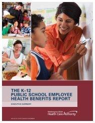 the k–12 public school employee health benefits report