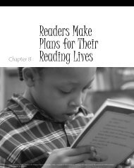 Readers Make Plans for Their Reading Lives - Stenhouse Publishers