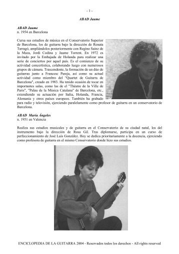 Enciclopedia de la Guitarra A - Just Classical Guitar Club