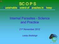Internal Parasites – Science and practice – Lesley Stubbings - Eblex