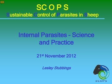 Internal Parasites – Science and practice – Lesley Stubbings - Eblex