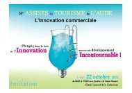 Intervention de Mr Hugonnet : Les innovations commerciales