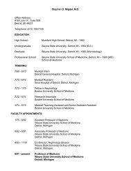 Detroit, MI 48201 - Division of Nephrology - Wayne State University