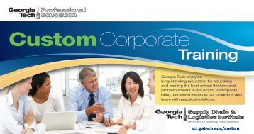 CustomCorporate - The Supply Chain and Logistics Institute