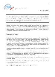 1 Le 25 février 2009 Avis de la Commission consultative de l'Eau ...